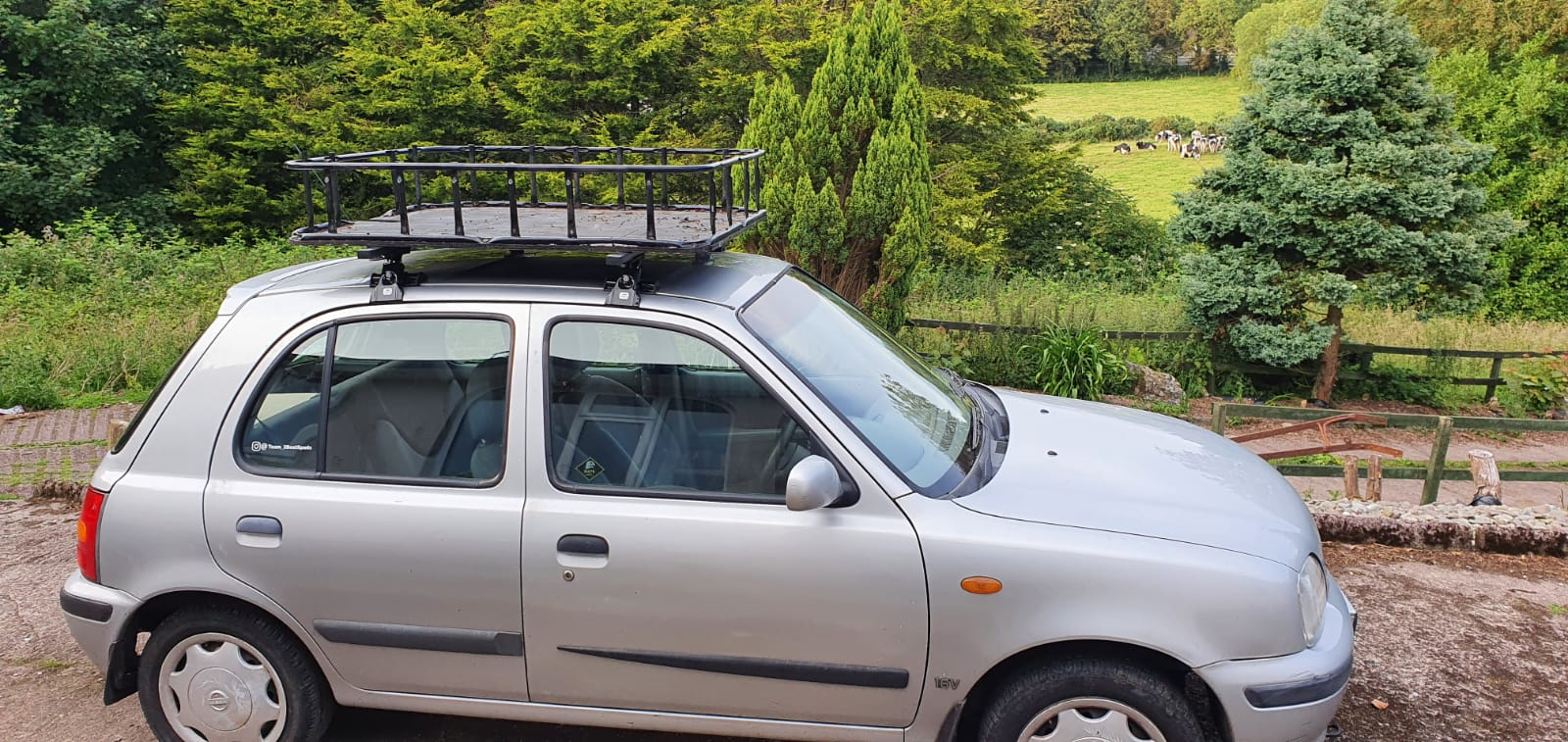roof cage for nissan micra mongol rally build