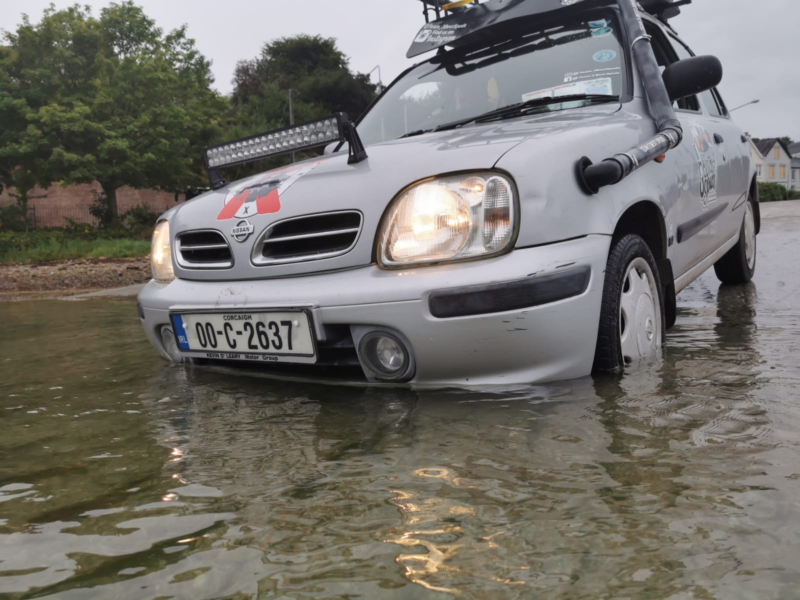 nissan micra with snorkel for rally