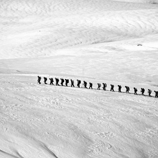 expedition leader leads group
