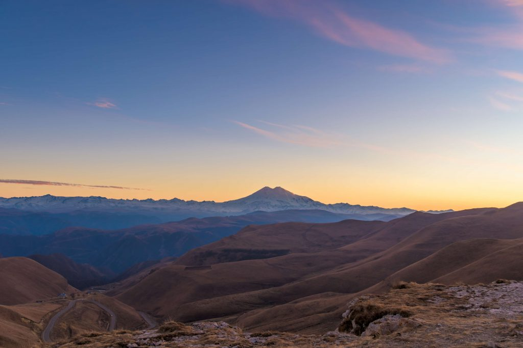 Sunset over Mount Elbrus